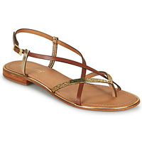 Shoes Women Sandals Les Tropéziennes par M Belarbi MONACO Tan / Glitter