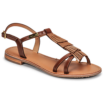 Shoes Women Sandals Les Tropéziennes par M Belarbi BELIE Tan / Gold