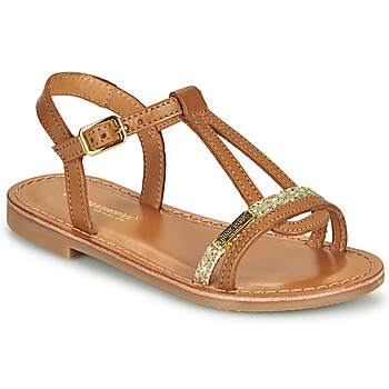 Shoes Girl Sandals Les Tropéziennes par M Belarbi BADA Honey / Gold