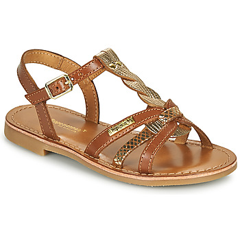 Shoes Girl Sandals Les Tropéziennes par M Belarbi BADAMI Camel / Gold