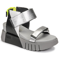 Shoes Women Sandals United nude DELTA RUN Black / Silver