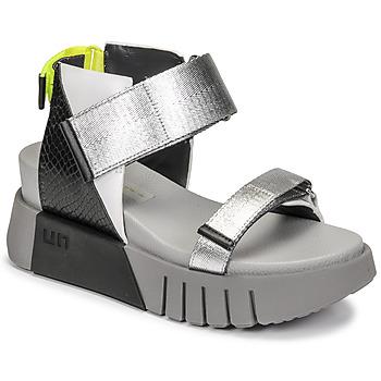 Shoes Women Sandals United nude DELTA RUN Black / Silver