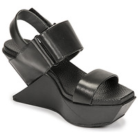 Shoes Women Sandals United nude DELTA WEDGE Black