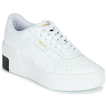 Shoes Women Low top trainers Puma CALI WEDGE White / Black