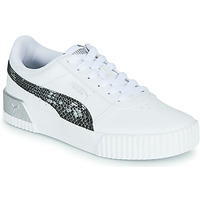 Shoes Women Low top trainers Puma CARINA White / Reptile