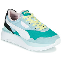 Shoes Women Low top trainers Puma CRUISE RIDER SILK Blue / White / Black