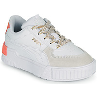 Shoes Girl Low top trainers Puma CALI SPORT PS White / Pink