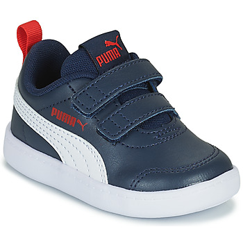 Shoes Boy Low top trainers Puma COURTFLEX INF Black
