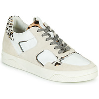 Shoes Women Low top trainers Mam'Zelle ARTIX White / Leopard
