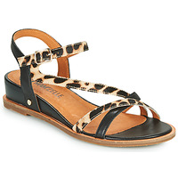 Shoes Women Sandals Mam'Zelle OLIM Black / Leopard