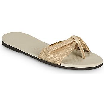 Shoes Women Flip flops Havaianas YOU ST TROPEZ SHINE Beige
