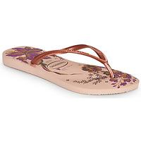 Shoes Women Flip flops Havaianas SLIM ORGANIC Pink