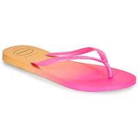 Shoes Women Flip flops Havaianas SLIM GRADIENT Pink / Yellow