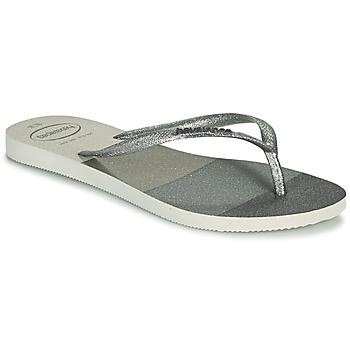 Shoes Women Flip flops Havaianas SLIM PALETTE GLOW White