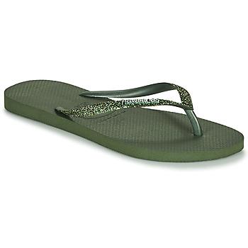 Shoes Women Flip flops Havaianas SLIM GLITTER II Green