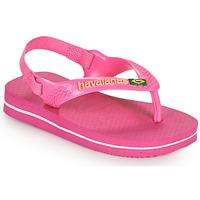 Shoes Girl Flip flops Havaianas BABY BRASIL LOGO II Pink