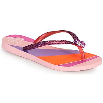 Shoes Girl Flip flops Havaianas KIDS SLIM GLITTER II Pink