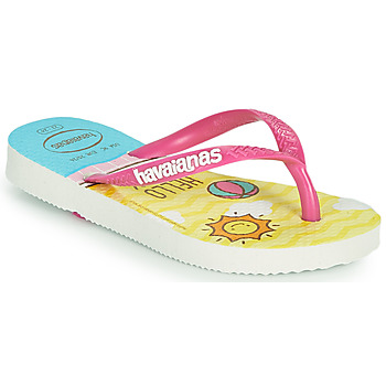Shoes Girl Flip flops Havaianas KIDS SLIM HELLO KITTY White