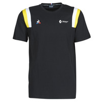 material Men short-sleeved t-shirts Le Coq Sportif RENAULT FANWEAR 20 Tee SS M Black