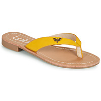 Shoes Women Flip flops Les Petites Bombes EMMA Yellow