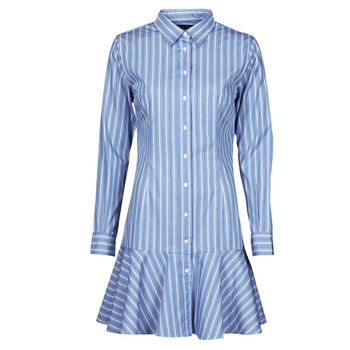 material Women Short Dresses Lauren Ralph Lauren TRIELLA Blue / White