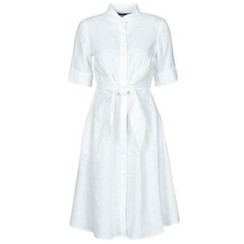 material Women Short Dresses Lauren Ralph Lauren WAKANA White