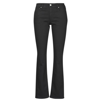 material Women straight jeans Lauren Ralph Lauren MIDRISE STRT-5-POCKET-DENIM Black