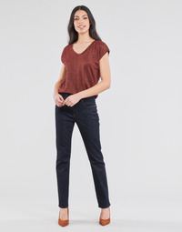 material Women straight jeans Lauren Ralph Lauren MIDRISE STRT-5-POCKET-DENIM Marine