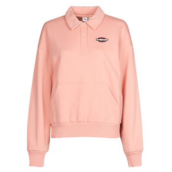 material Women sweaters Vans WM DOME GROWN POLO F Pink / Dawn