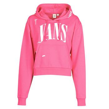 material Women sweaters Vans WM KAYE CROP HOODIE Pink
