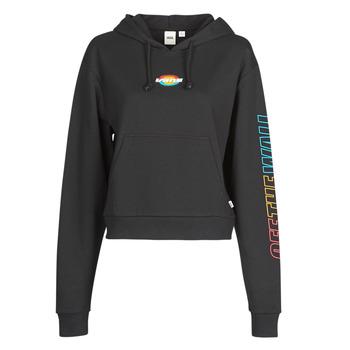 material Women sweaters Vans WM OVAL TEEN HOODIE  black