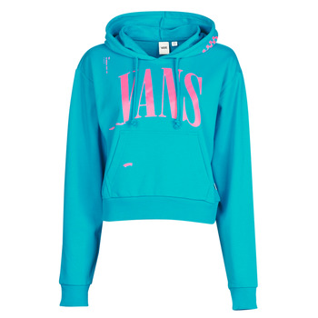 material Women sweaters Vans WM KAYE CROP HOODIE Blue
