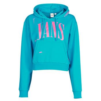 material Women sweaters Vans WM KAYE CROP HOODIE Enamel / Blue