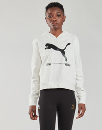 material Women sweaters Puma NUTILITY HOODY White