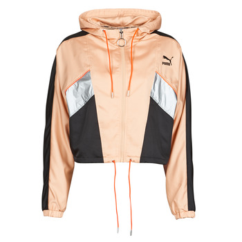 material Women Jackets Puma FASHION LUX JACKET Pink / Black