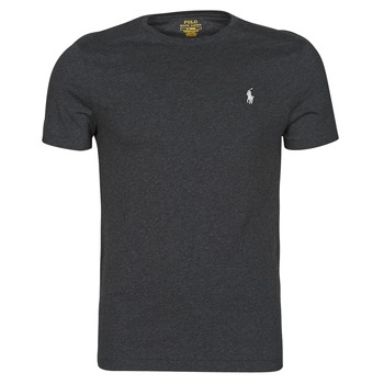 material Men short-sleeved t-shirts Polo Ralph Lauren T-SHIRT AJUSTE COL ROND EN COTON LOGO PONY PLAYER Black