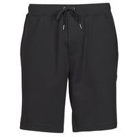 material Men Shorts / Bermudas Polo Ralph Lauren SHORT DE JOGGING EN DOUBLE KNIT TECH LOGO PONY PLAYER Black