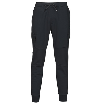 material Men Tracksuit bottoms Polo Ralph Lauren PANTALON DE JOGGING CARGO EN DOUBLE KNIT TECH LOGO PONY PLAYER Black