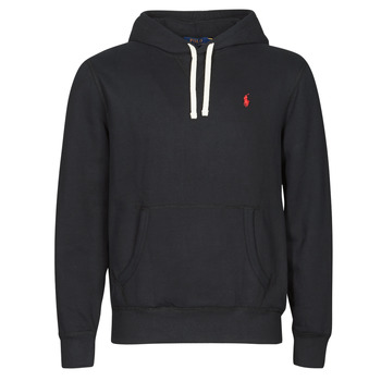 material Men sweaters Polo Ralph Lauren SWEAT A CAPUCHE MOLTONE EN COTON LOGO PONY PLAYER Black