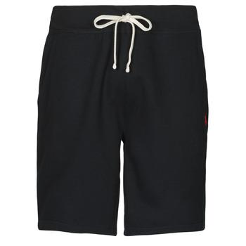 material Men Shorts / Bermudas Polo Ralph Lauren SHORT MOLTONE EN COTON LOGO PONY PLAYER Black