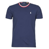 material Men short-sleeved t-shirts Polo Ralph Lauren T-SHIRT COL ROND DETAILS DE COL EN COTON PIQUE LOGO PONY PLAYER Marine