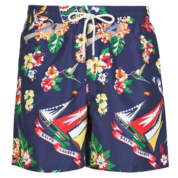 material Men Trunks / Swim shorts Polo Ralph Lauren MAILLOT SHORT DE BAIN IMPRIME POLO BEAR CORDON DE SERRAGE ET POC Multicolour
