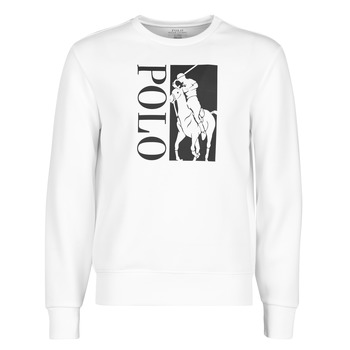 material Men sweaters Polo Ralph Lauren SWEATSHIRT A CAPUCHE EN JOGGING DOUBLE KNIT TECH AVEC BIG PONY P White