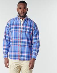 material Men long-sleeved shirts Polo Ralph Lauren CHEMISE AJUSTEE EN OXFORD COL BOUTONNE  LOGO PONY PLAYER MULTICO Multicolour