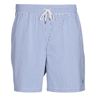 material Men Trunks / Swim shorts Polo Ralph Lauren MAILLOT SHORT DE BAIN RAYE SEERSUCKER CORDON DE SERRAGE ET POCHE Blue