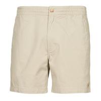 material Men Shorts / Bermudas Polo Ralph Lauren SHORT PREPSTER AJUSTABLE ELASTIQUE AVEC CORDON INTERIEUR LOGO PO Beige