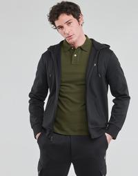 material Men sweaters Polo Ralph Lauren SWEATSHIRT A CAPUCHE ZIPPE EN JOGGING DOUBLE KNIT TECH LOGO PONY Black