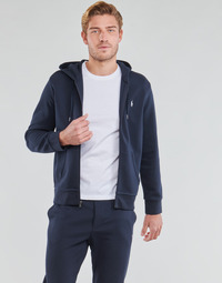 material Men sweaters Polo Ralph Lauren SWEATSHIRT A CAPUCHE ZIPPE EN JOGGING DOUBLE KNIT TECH LOGO PONY Marine