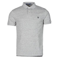material Men short-sleeved polo shirts Polo Ralph Lauren POLO AJUSTE DROIT EN COTON BASIC MESH LOGO PONY PLAYER Grey / Heather