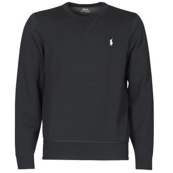material Men sweaters Polo Ralph Lauren SWEATSHIRT COL ROND EN JOGGING DOUBLE KNIT TECH LOGO PONY PLAYER Black